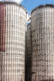Old Grain Silos Stock Photo