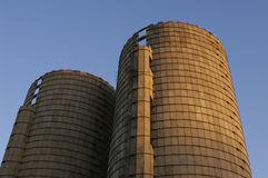 Old Grain Silos Stock Photography