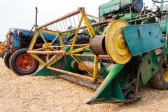 Old grain thresher Stock Photo