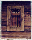 Old grainery window - Polaroid image transfer Royalty Free Stock Images