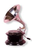 Old gramophone. Isolated on the white with clipping path Stock Image