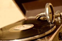 Old gramophone. Picture of an Old gramophone Royalty Free Stock Photo