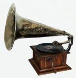 Old gramophone stock photo
