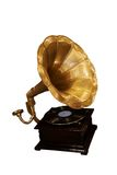 Old gramophone. Isolated on white, clipping path Stock Images