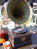 old-gramophone-an-antique-market Stock Images