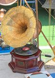 Old Gramophone With Speaker Royalty Free Stock Photo