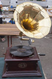 Old gramophone at flea market. Old gramophone at the flea market in Zagreb Croatia stock photography