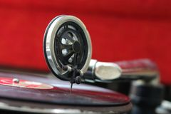Vintage gramophone head and disc Royalty Free Stock Image