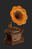 Old gramophone with horn Stock Photo