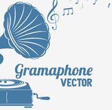 Old gramophone  isolated icon design. Illustration  graphic Stock Photos