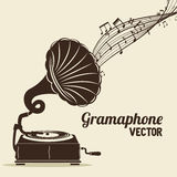 Old gramophone  isolated icon design. Illustration  graphic Royalty Free Stock Photos