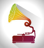 Old gramophone  isolated icon design. Illustration  graphic Stock Photo