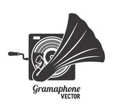 Old gramophone  isolated icon design. Illustration  graphic Stock Photography