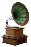 Old gramophone isolated on white background Royalty Free Stock Photo