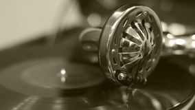 Old gramophone stock video
