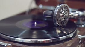 Old gramophone playing stock video footage