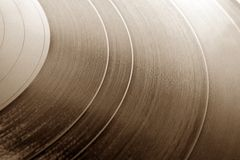 Old gramophone record. For backgrounds or textures Stock Photo