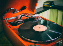 Old gramophone, retro royalty free stock images