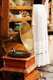 Old gramophone on a table Royalty Free Stock Image