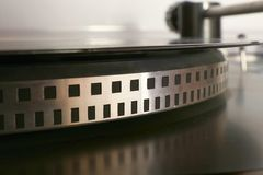 Old gramophone turntable with disc Royalty Free Stock Images