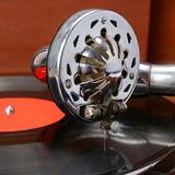 Old gramophone and vinyl record Royalty Free Stock Image