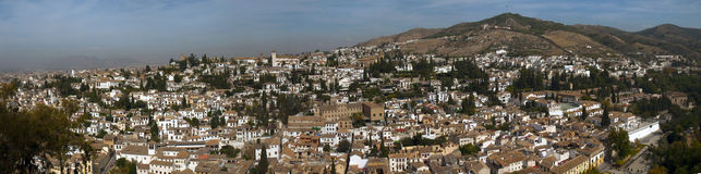 Old Granada from Alhambra Stock Photography