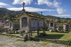 Free Old Granaries At Lindoso - Portugal Stock Photography - 94094212