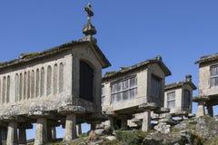 Old Granaries at Lindoso - Portugal stock image
