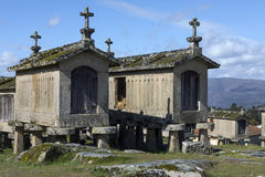 Old Granaries at Lindoso - Portugal Royalty Free Stock Images