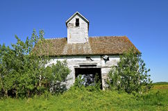 Old granary or elevator on a farm Royalty Free Stock Photos