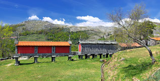 Old Granary at National Park in North Portugal Royalty Free Stock Images