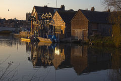 The Old Granary Wareham Dorset. At Sunset Royalty Free Stock Images