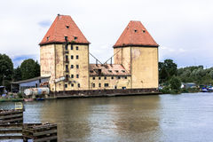 Old granary in Wolin Royalty Free Stock Photography