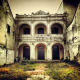 Old grand dilapidated chinese traditional building Stock Image