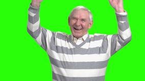 Old grandpa laugh heartily.