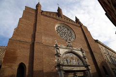 Old granite church in toulouse Royalty Free Stock Images