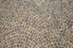 Old granite cobblestone pavement Stock Photo