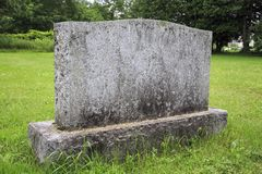 Old granite grave marker blank for customizing Stock Image
