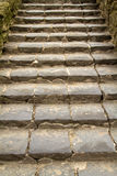 Old granite staircase Royalty Free Stock Images