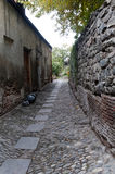 Old granite stone streets in vintage style Royalty Free Stock Photo