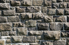 Old granite stone wall. Of a 19th century fort in Quebec, Canada Royalty Free Stock Photography