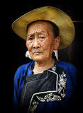 An old granny of Miao Royalty Free Stock Photo