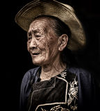 An old granny of Miao Stock Image