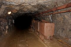 Old graphite mine. In the Cesky Krumlov stock images