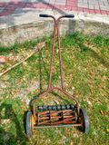 Old grasscutting machine Royalty Free Stock Photo