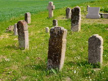 Old grave. Old cemetery with stone monuments Stock Image