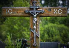The Old Grave Cross Royalty Free Stock Images