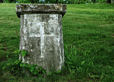 Old Grave with Cross Stock Photo