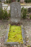 An old grave on a graveyard Stock Photos