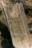 Old Grave Marker Stock Photo